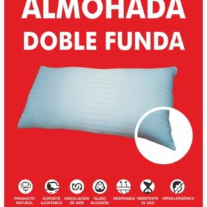 almohada doble funda