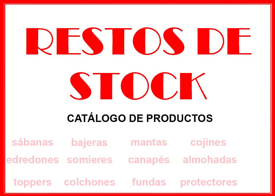 catálogo de productos restos de stock